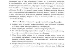 Apel Wojewódzkiego Komendanta Policji w sprawie oszustw dokonywanych na  seniorach