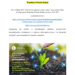 OGŁOSZENIE  O KONSULTACJACH SPOŁECZNYCH DO PROJEKTU PLANU STRATEGICZNEGO WSPÓLNEJ POLITYKI ROLNEJ