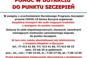 Transport do punktu szczepień w gminie Byczyna