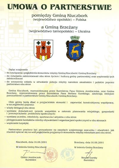partnerstwo Kluczbork-Brzeżany