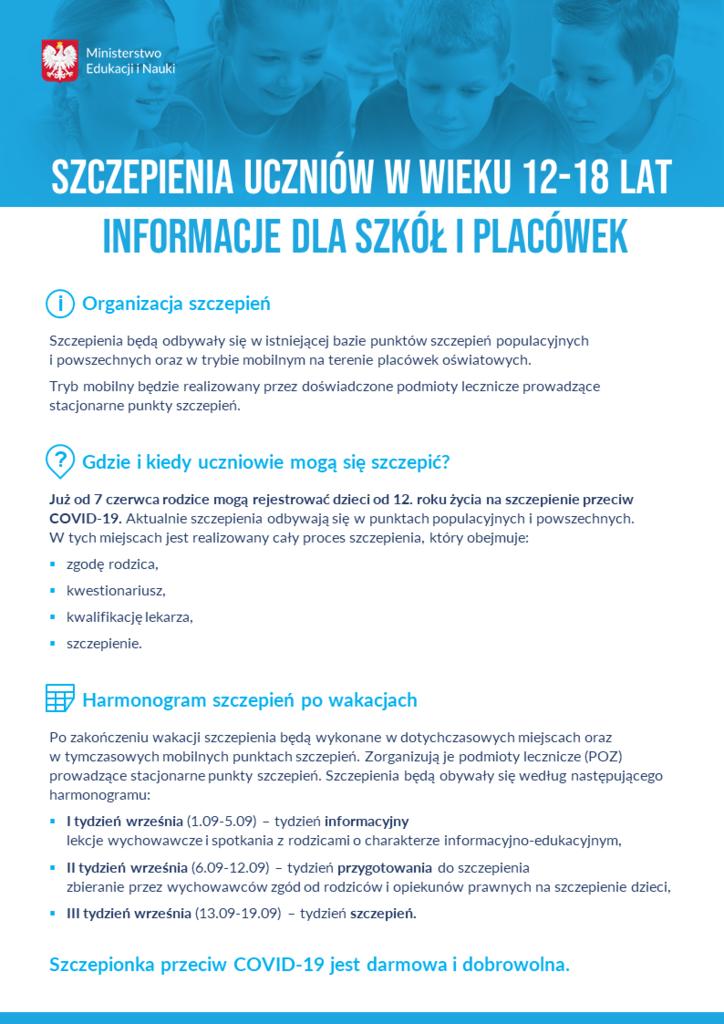 szczepieniauczniowwwieku1218latinformacjedlaszkoliplacowekplakat.png