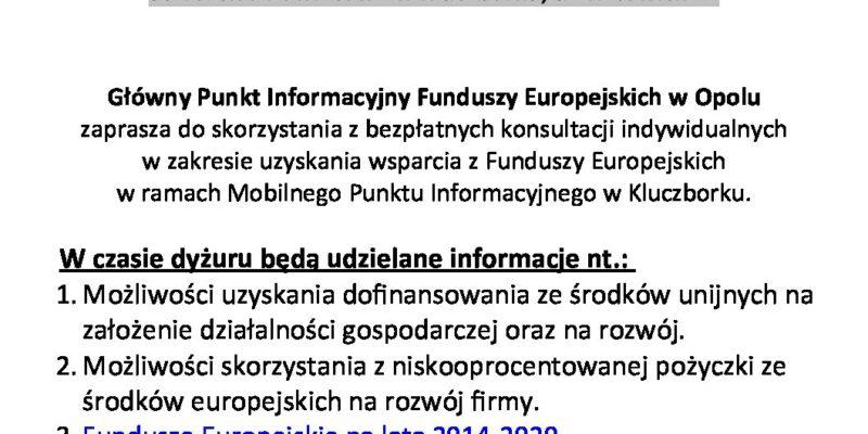 Wsparcie dotyczące Funduszy Europejskich