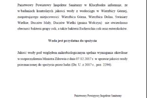 Komunikat Państwowego Inspektora Sanitarnego w Kluczborku