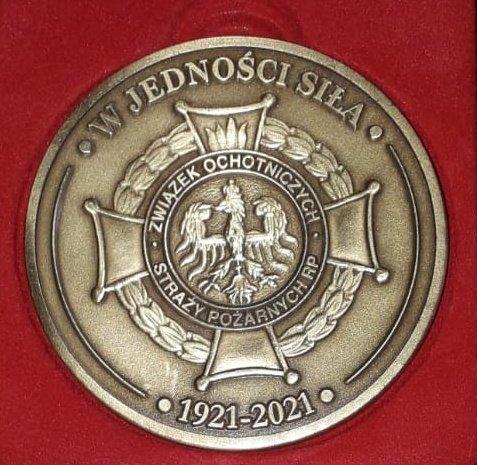 Medal z okazji 100-lecia Związku Ochotniczych Straży Pożarnych RP